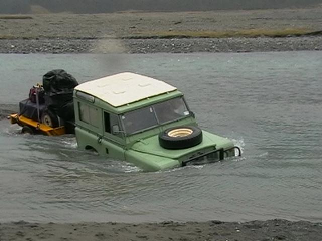 One Swamped Land Rover